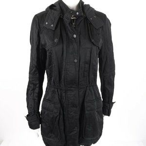 Vince Womens Anorak Short Jacket Small Black Luxe